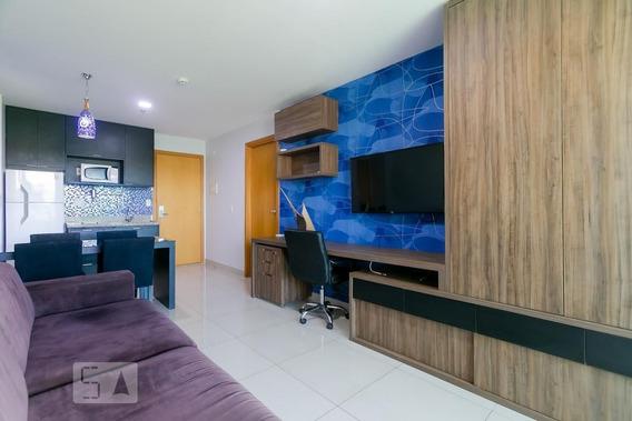 Apartamento No 1º Andar Mobiliado Com 1 Dormitório E 1 Garagem - Id: 892962158 - 262158