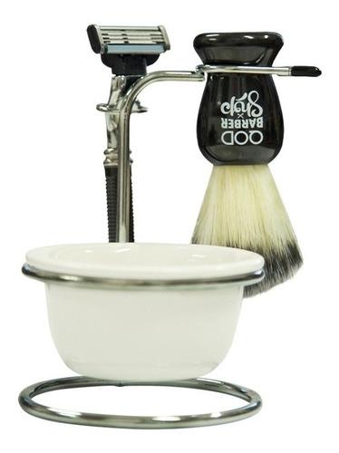 Imagem 1 de 3 de Kit De Barbear Old School | Bowl, Pincel E Barbeador | Qbs