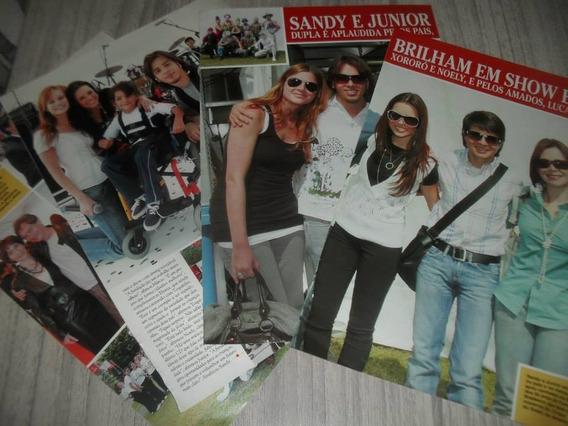 Sandy E Júnior - Lote Com 200 Páginas De Revistas Variadas