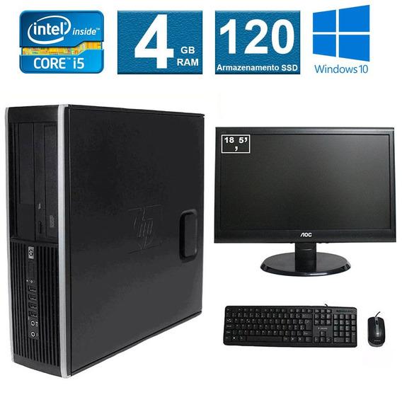 Computador Hp Elite 8100 I5 4gb 120ssd Monitor 18 Polegadas