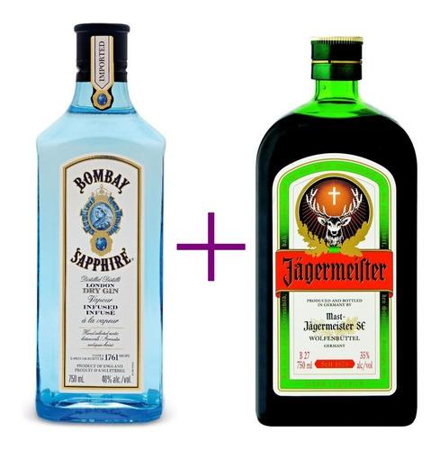 Pack Gin Bombay Sapphire 750ml + Jagermeister 700ml