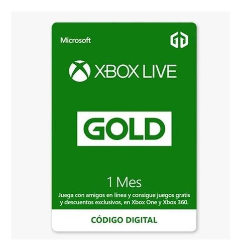 Imagen 1 de 1 de Tarjeta Xbox Live Gold ( Codigo) Envio Inmediato