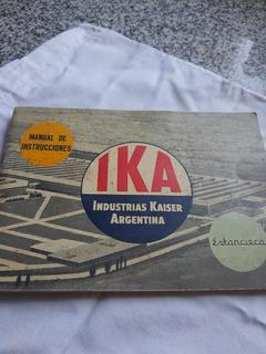 Manual Original De Estanciera Ika