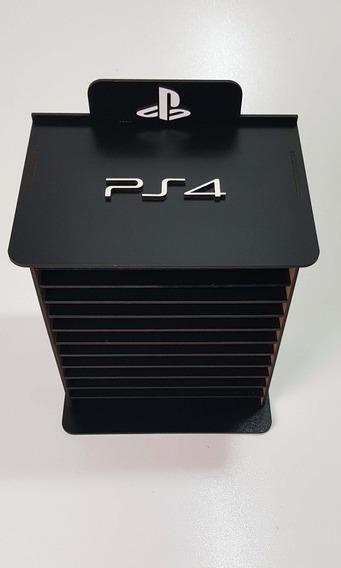 Porta Jogos Play Station 4 Em Mdf 3mm Comporta 13 Blue Ray