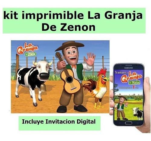 Kit Imprimible Canciones De La Granja De Zenon