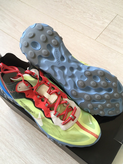 Nike React Element 87 Undercover (volt) 7.5 Mx/9.5 Us Nuevos