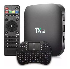 Receptor Conversor Tx 2 Smart Tvbox 4k Wifi+teclado Original
