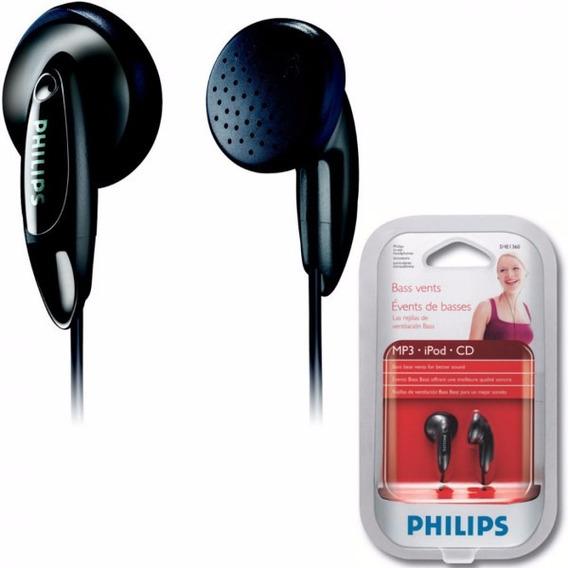 Fone De Ouvido Philips Intra Auricular Preto She1360/55 P2