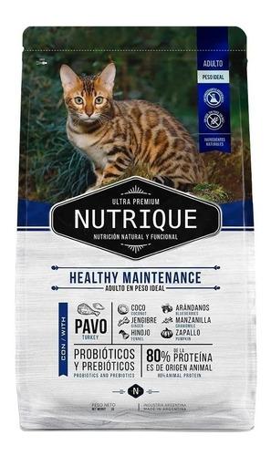 Imagen 1 de 1 de Alimento Nutrique Ultra Premium Healthy Maintenance para gato adulto sabor mix en bolsa de 7.5kg