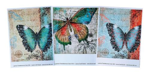 Transferencia Color Set Mariposas Laura Craft