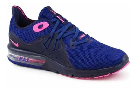Nike Air Max Sequent 3 Marinho Pink Preto