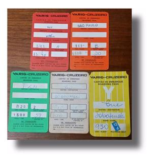 Cartões De Embarque Antigos Varig-cruzeiro
