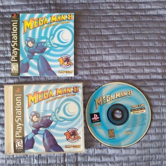 Mega Man 8 Original Para Ps1 Com Encartes E Manual Réplica