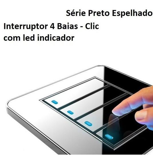 Interruptor Moderno 4 Em 1 + Caixa De Instalação Propria