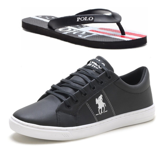 Kit Chinelo + Tênis Polo Plus Casual Original Masculino!!!