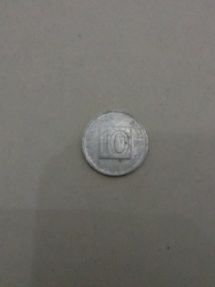 Moneda 10 Tolarjev De Eslovenia Año 1992