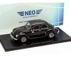 Miniatura Volkswagen Fusca Preto Neo 1/43