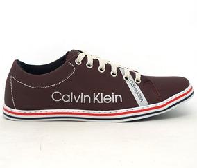 bf10652308c Sapatênis Masculino Calvin Klein Bordô