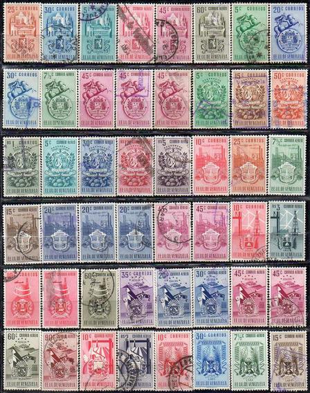 Venezuela 1951/53. Conjunto Con 174 Sellos De Los Estados