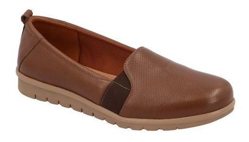 Zapato Flats Comodo Flexi Mujer Tan M629790