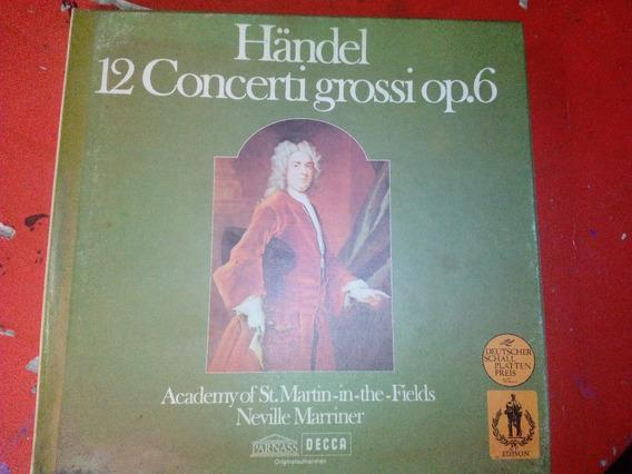 Box 3lps Händel 12concerti Grossi 1969 Importado