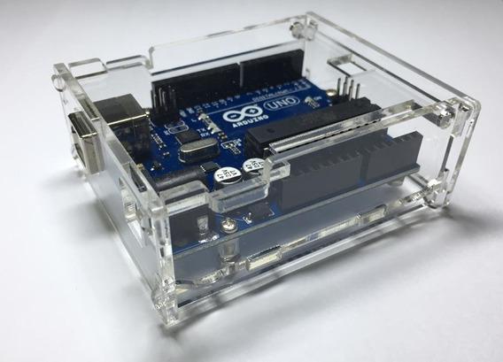 Case Arduino Uno R3 Box Caixa Transparente