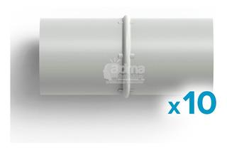 Unión Acople Caño Rígido 3/4 Pvc 20mm Electricidad Pack X10