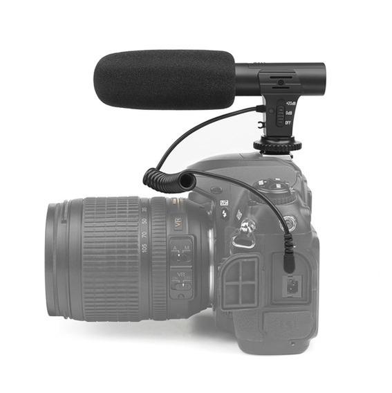 Microfone Shotgun Direcional Para Câmera Dslr