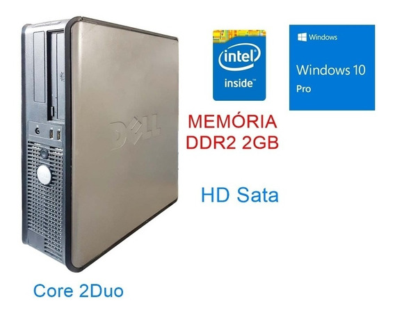 Cpu Desktop Dell Intel Core2 Duo Windows 10 Pro