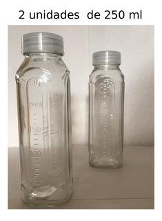 Botella / Mamadera De Vidrio 250 Ml Rosca Universal