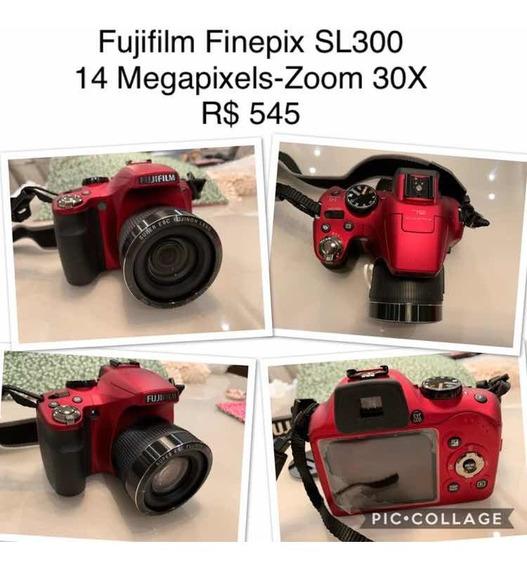 Câmera Semi-profissional Fujifilm Finepix Sl300 14mp/30x
