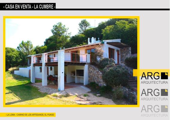 Camino De Los Artesanos, La Cumbre,casa Con Hermosa Vista.