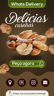 Cartão De Visita Interativo Tema 108 Padaria Caseira Bolos