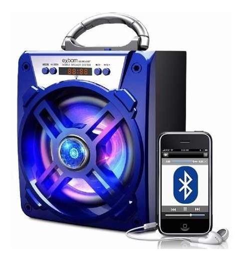 Caixa Som Bazooca Bluetooth Recarregavel Usb Mp3 Fm Sd