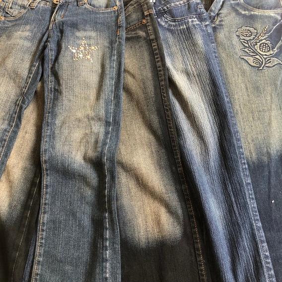 Kit Com 4 Jeans Marcas Variadas Tam 36, 38