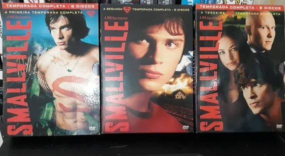 Box Smallville 1ª 2ª E 3 Temporadas Completas
