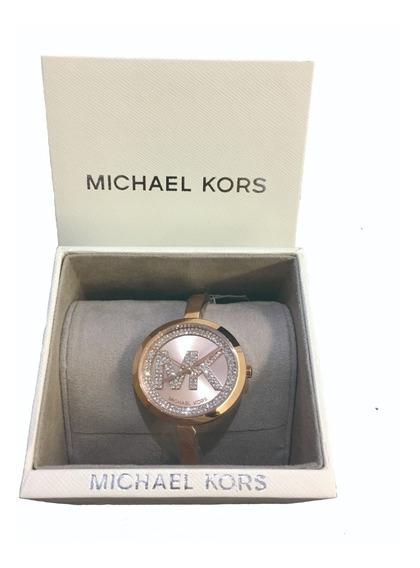 Lindo Relógio Bracelete Mk Rose Promoção Queima De Estoque