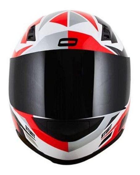 Capacete para moto integral Norisk FF391 Cutting white, black, red tamanho 56