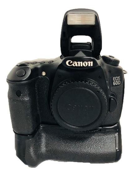 Câmera Canon 60d Corpo Semi Nova Impecável + Grip