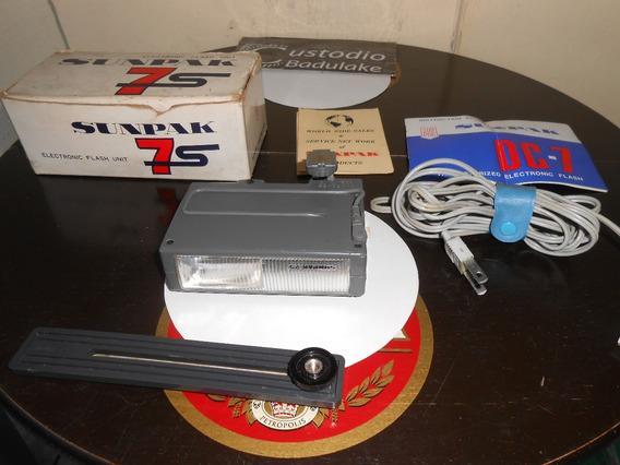Antigo Flash Eletrônico Sumpak Modelo Dc-7 Made In Japan