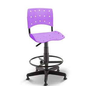 Cadeira Caixa Secretária Balcão Portaria Ergoplax Lilás