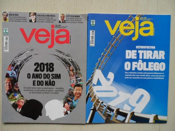 Lote Com Duas Revista Veja Retrospectiva 2018 E 2019
