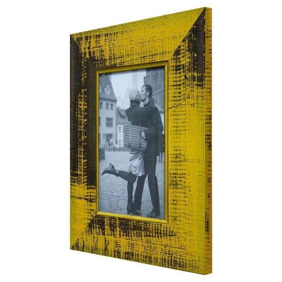 Porta Retrato De Mesa Para Foto 10x15 Cm Amarelo