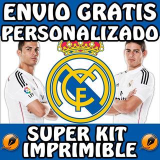 Kit Imprimible Para Tu Fiesta De Real Madrid