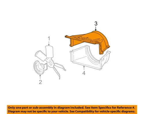 GM OEM Cooling Fan-Upper Shroud 15739587