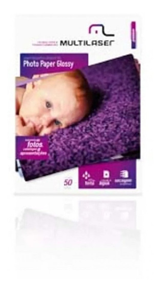 Papel Fotográfico Glossy A4 50 Folhas Pacote Multilaser