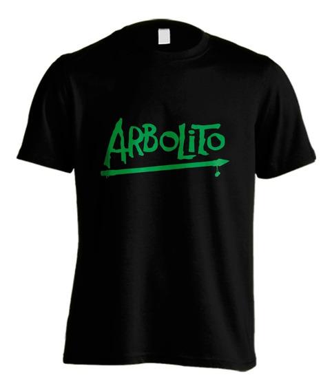 Arbolito #01 Remera Artesanal Vinilo Planta Nuclear
