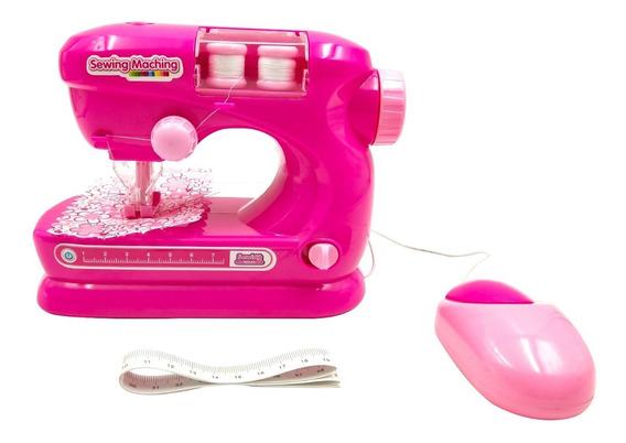 Mini Maquina De Costura Infantil Brinquedo Rosa Mini Atelie^