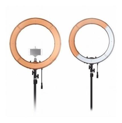 Ring Light Led Fonte+ Filtros Laranja+difusor Rl12+ Pedestal