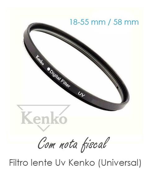 T3i - Filtro Lente 58mm Uv Kenko 18-55mm Camera Canon